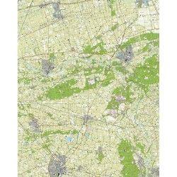 Topografische kaart schaal 1:25.000 (Ommen, Dalfsen, Nieuwleusen, Raalte, Hellendoorn, Heino)