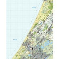 Topografische kaart schaal 1:25.000 (Lisse, Sassenheim, Voorhout, Katwijk, Leiden, Wassenaar)