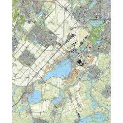 Topografische kaart schaal 1:25.000 (Amsterdam, Amstelveen, Hoofddorp, Aalsmeer, Uithoorn, Nieuw-Vennep)