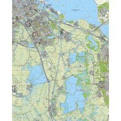 Topografische kaart schaal 1:25.000 (Amsterdam, Abcoude, Weesp, Bussum, Naarden, Breukelen)