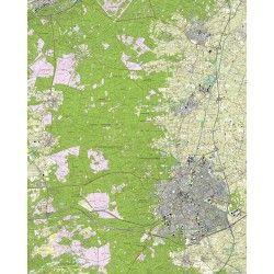Topografische kaart schaal 1:25.000 (Apeldoorn, Vaassen, Epe, Nunspeet, Elspeet, Uddel)
