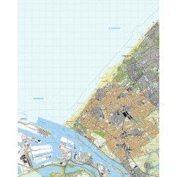 Topografische kaart schaal 1:25.000 (Den Haag, Monster, 's-Gravenzande, Honselersdijk, Maassluis)