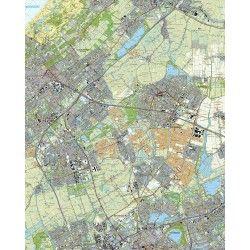 Topografische kaart schaal 1:25.000 (Den Haag, Leidschendam, Zoetermeer, Rotterdam, Delft, Leiden)
