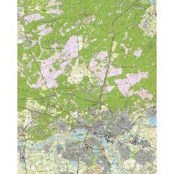 Topografische kaart schaal 1:25.000 (Arnhem, Velp, Duiven, Rheden, Westervoort, Oosterhout)