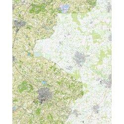 Topografische kaart schaal 1:25.000 (Eibergen, Winterswijk, Neede, Groenlo)