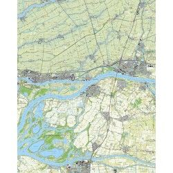 Topografische kaart schaal 1:25.000 (Gorinchem, Sliedrecht, Werkendam, Raamsdonksveer, Hardinxveld-Giessendam)