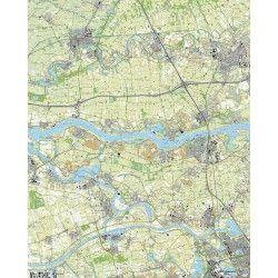 Topografische kaart schaal 1:25.000 (Leerdam, Geldermalsen, 's-Hertogenbosch, Zaltbommel, Veen)