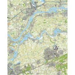 Topografische kaart schaal 1:25.000 (Tiel, 's-Hertogenbosch, Oss, Heesch, Rosmalen, Kerkdriel)