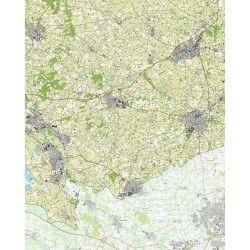 Topografische kaart schaal 1:25.000 (Lichtenvoorde, Varsseveld, Gaanderen, Aalten, Dinxperlo, Ulft))