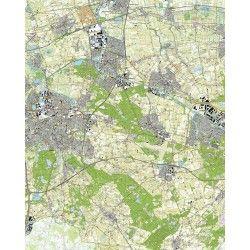 Topografische kaart schaal 1:25.000 (Breda, Oosterhout, Dongen, Rijen, Tilburg, Made)