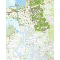 Topografische kaart schaal 1:25.000 (Hoogerheide, Woensdrecht, Ossendrecht, Rilland, Putte)