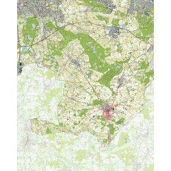 Topografische kaart schaal 1:25.000 (Breda, Tilburg, Gilze, Baarle-Nassau, Chaam, Alphen)