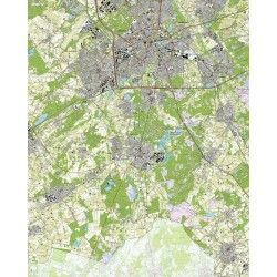 Topografische kaart schaal 1:25.000 (Eindhoven, Waalre, Aalst, Geldrop, Heeze, Nuenen, Valkenswaard)