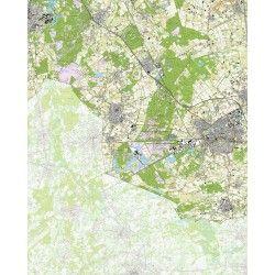 Topografische kaart schaal 1:25.000 (Leende, Maarheeze, Budel, Weert, Stramproy)