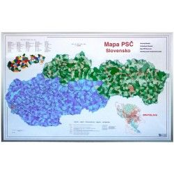 Postcodekaart Slowakije 1:435.000