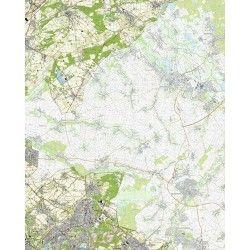 Topografische kaart schaal 1:25.000 (Montfort, Posterholt, Koningsbosch, Brunssum, Hoensbroek)