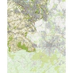 Topografische kaart schaal 1:25.000 (Heerlen, Landgraaf, Kerkrade, Eygelshoven, Vaals)