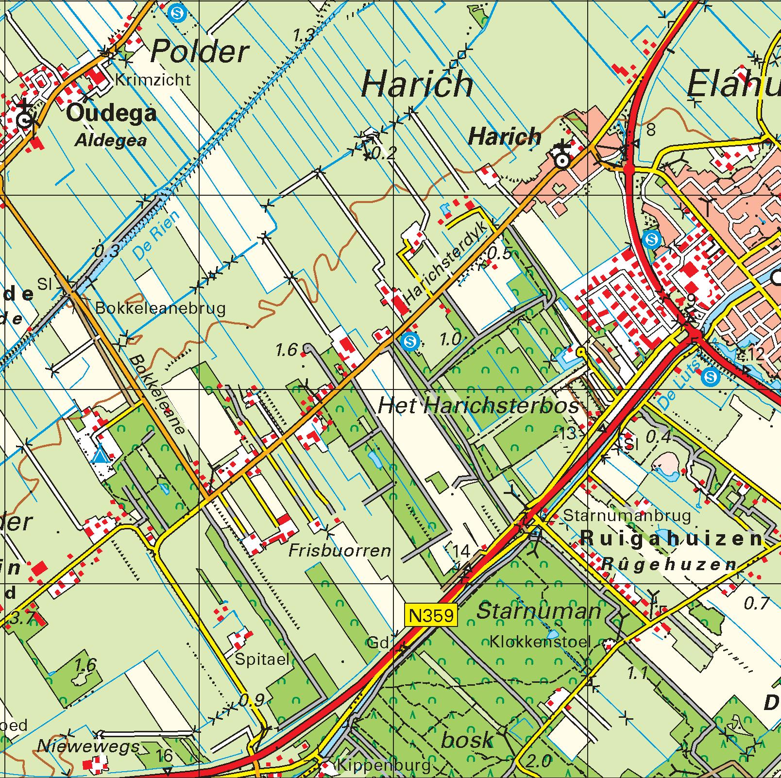 Topografische kaart schaal 1:50.000 (Enkhuizen ,Lemmer, Emmeloord, Lelystad, Dronten)