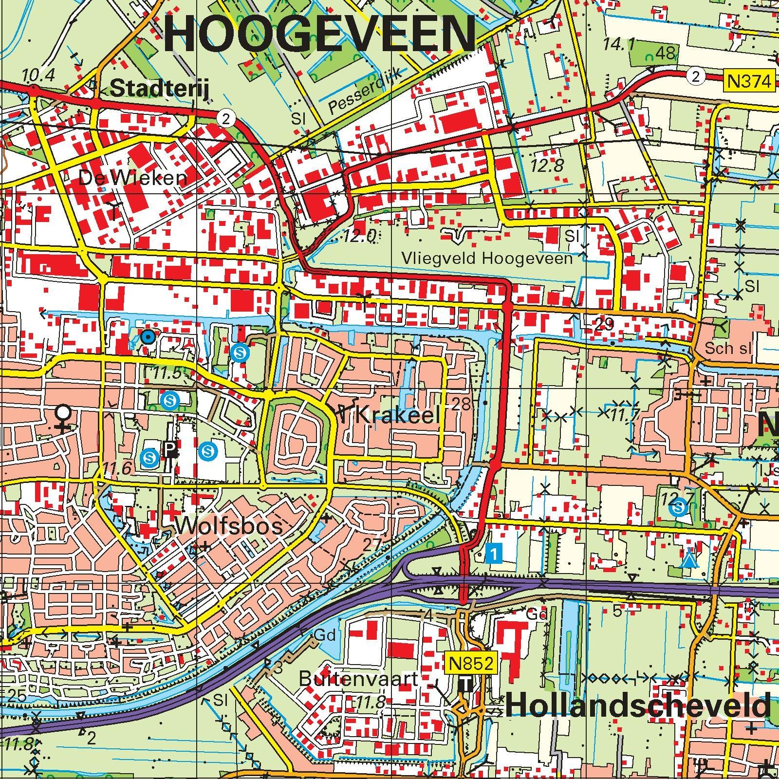 Topografische kaart schaal 1:50.000 (Hoogeveen, Emmen, Coevorden, Ommen)