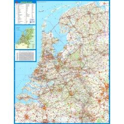 Landkaart Nederland Falk 1:250.000 met plaatsnamenindex