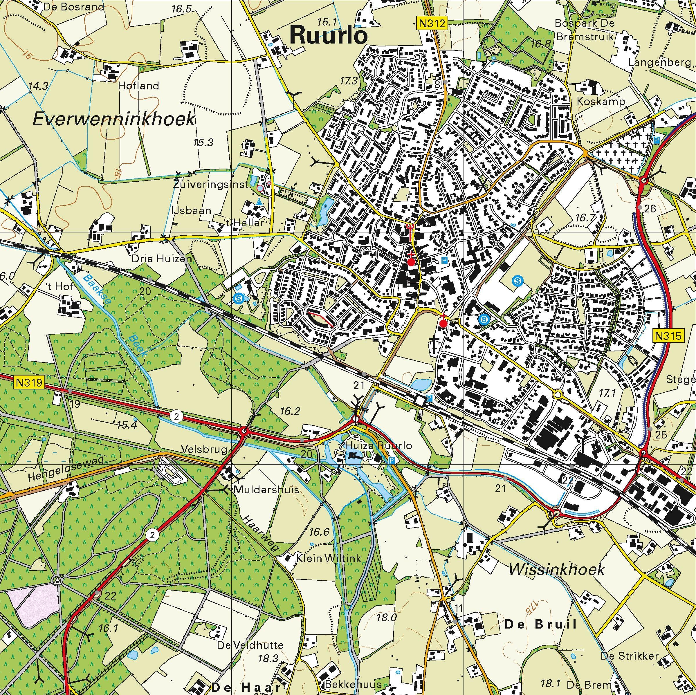 Topografische kaart schaal 1:25.000 (Neede, Borculo, Ruurlo, Groenlo, Lichtenvoorde, Zelhem)