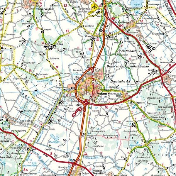 Provincie kaart Drenthe 1:100.000