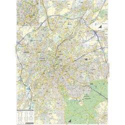 Stadsplattegrond Brussel schaal 1:15.500 met straatnamenindex
