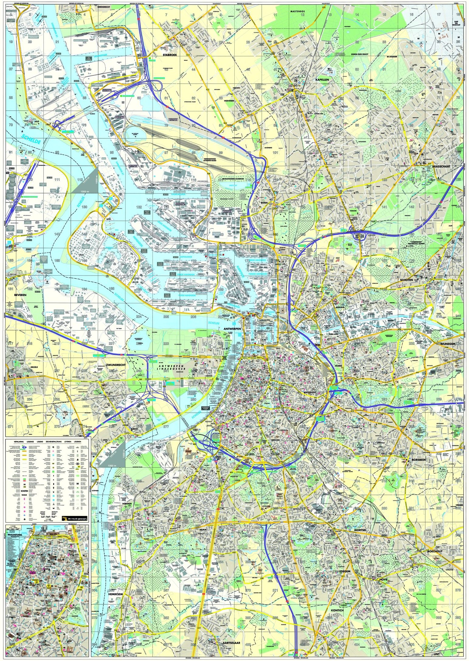 Stadsplattegrond Antwerpen 1:17.500