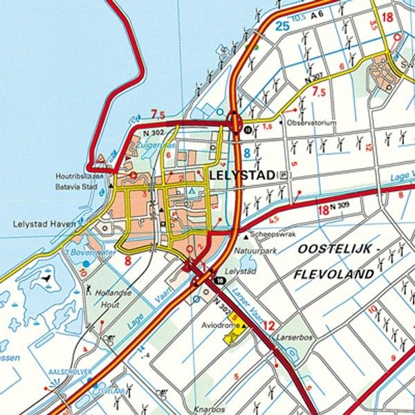 Provincie kaart Flevoland 1:100.000