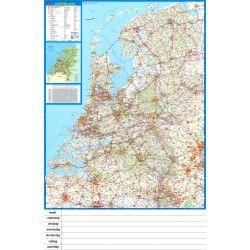Landkaart Nederland Falk 1:250.000 met weekplanning  met plaatsnamenindex