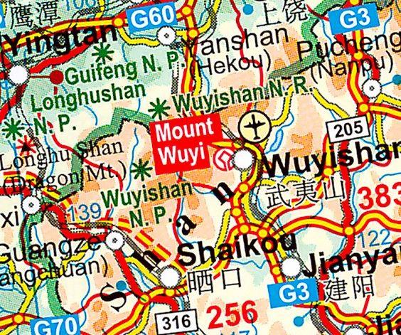 Landkaart China  Gizi 1:4.750.000