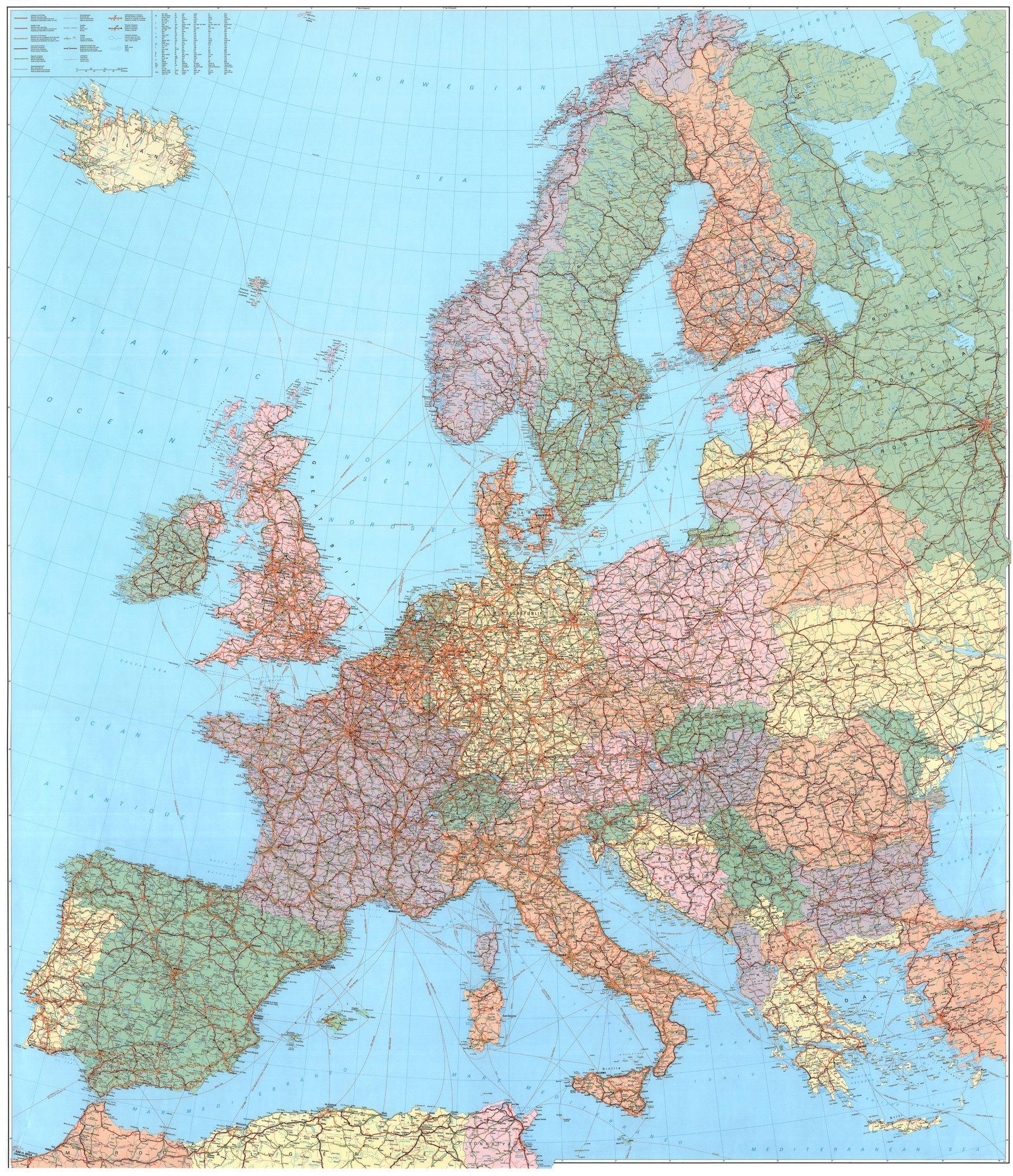 Europakaart D 1:2.750.000