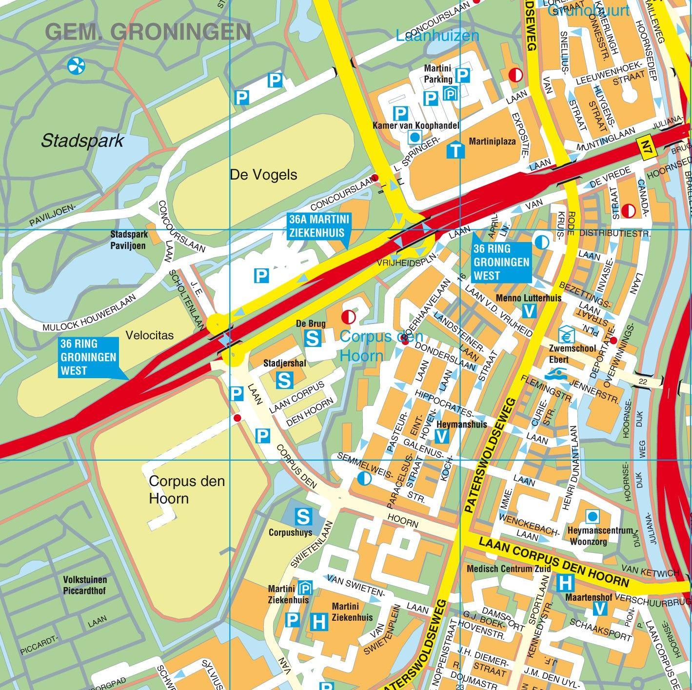 Stadsplattegrond Groningen