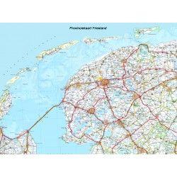 Provincie kaart Friesland 1:100.000