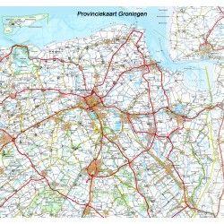 Provincie kaart Groningen 1:100.000