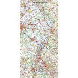Provincie kaart Limburg 1:100.000