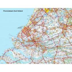 Provincie kaart Zuid-Holland 1:100.000