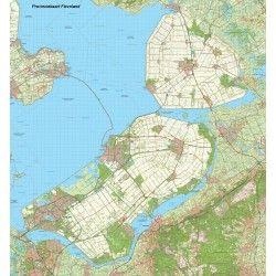 Provincie kaart Flevoland schaal 1:50.000