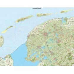 Provincie kaart Friesland schaal 1:50.000