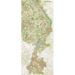 Provincie kaart Limburg schaal 1:50.000
