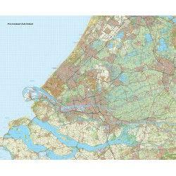 Provincie kaart Zuid Holland schaal 1:50.000