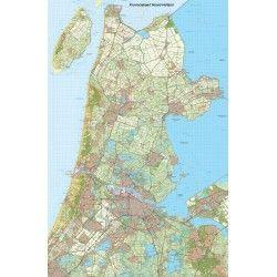 Provincie kaart Noord Holland schaal 1:50.000