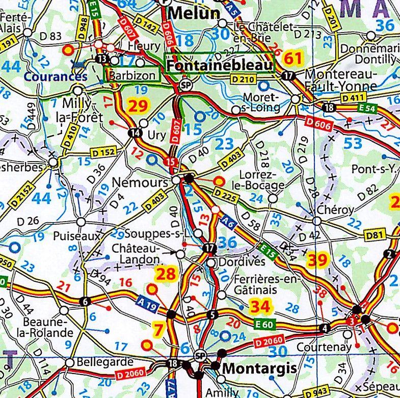 Landkaart Frankrijk 1:1.000.000 met weekplanning  met plaatsnamenindex