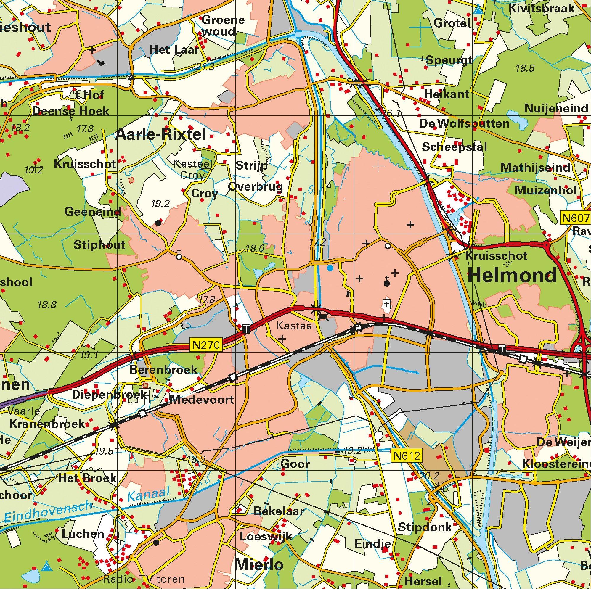 Topografische Provincie kaart Limburg 1:100.000