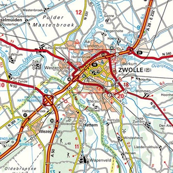 Provincie kaart Overijssel 1:100.000