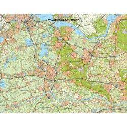 Topografische Provincie kaart Utrecht 1:100.000