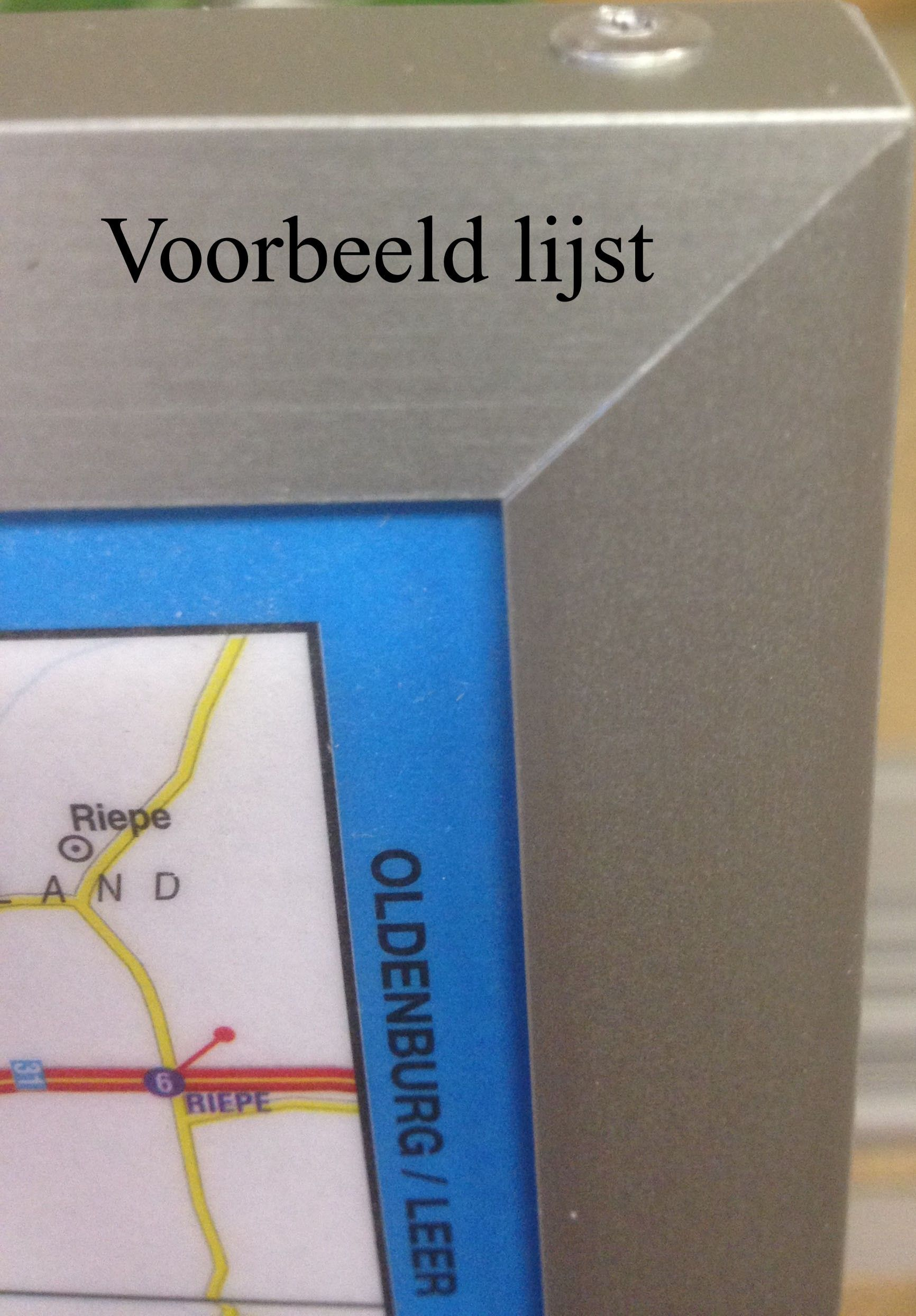 Provincie kaart Zuid-Holland