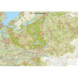 Topografische Provincie kaart Gelderland 1:100.000