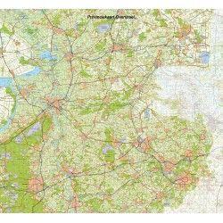 Topografische Provincie kaart Overijssel 1:100.000