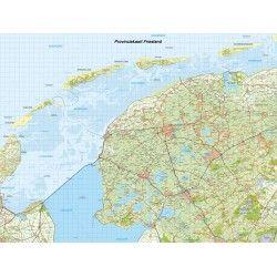 Topografische Provincie kaart Friesland 1:100.000
